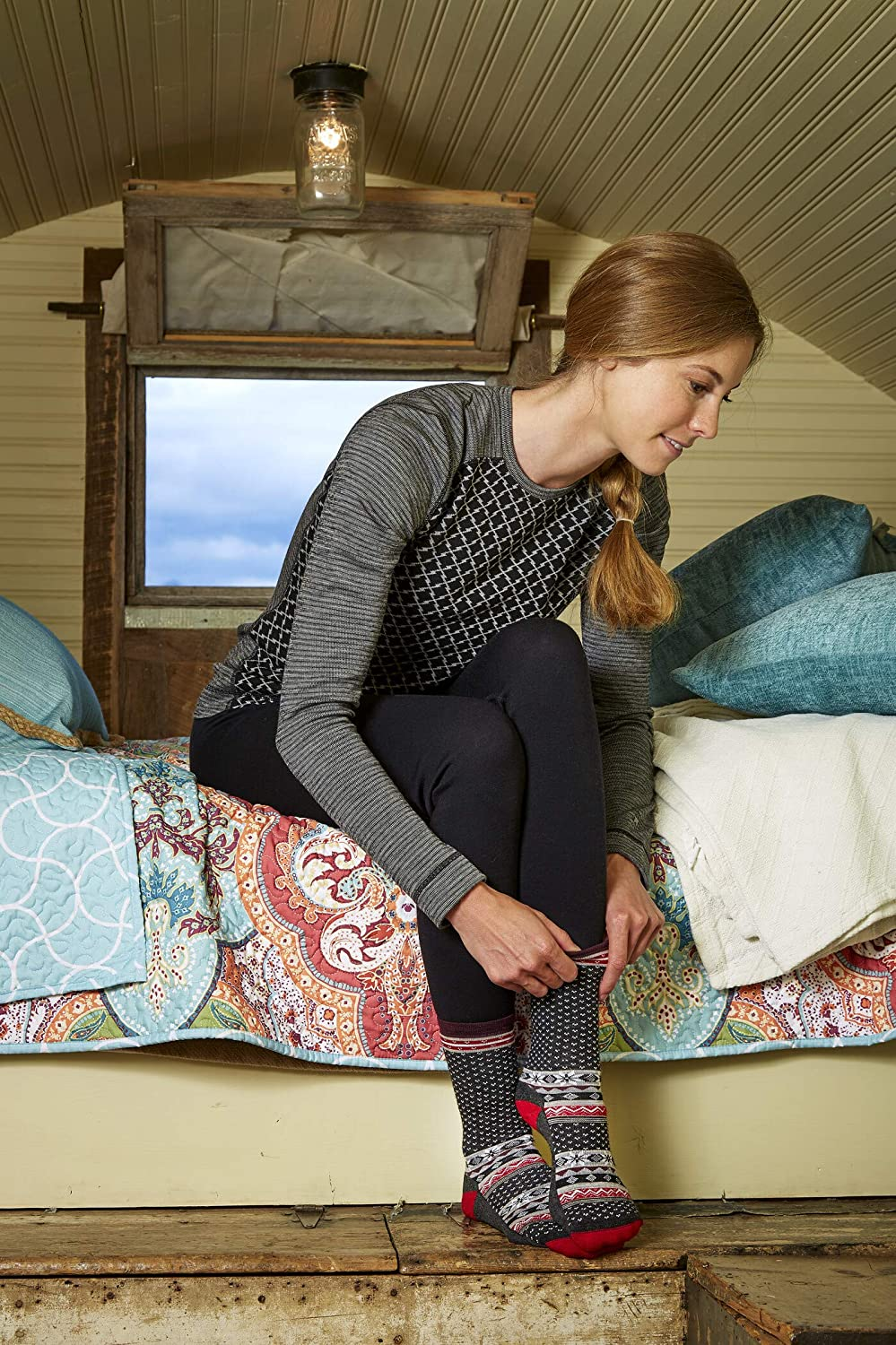 Calze Donna Smartwool Cozy Cabin Crew