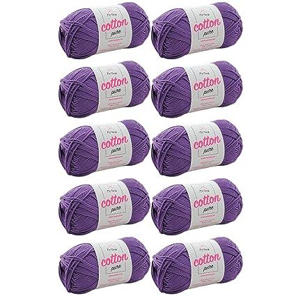 Algodón Para ganchillo * myoma Cotton Pure Color Blanco Perla (Fb 0101) * algodón