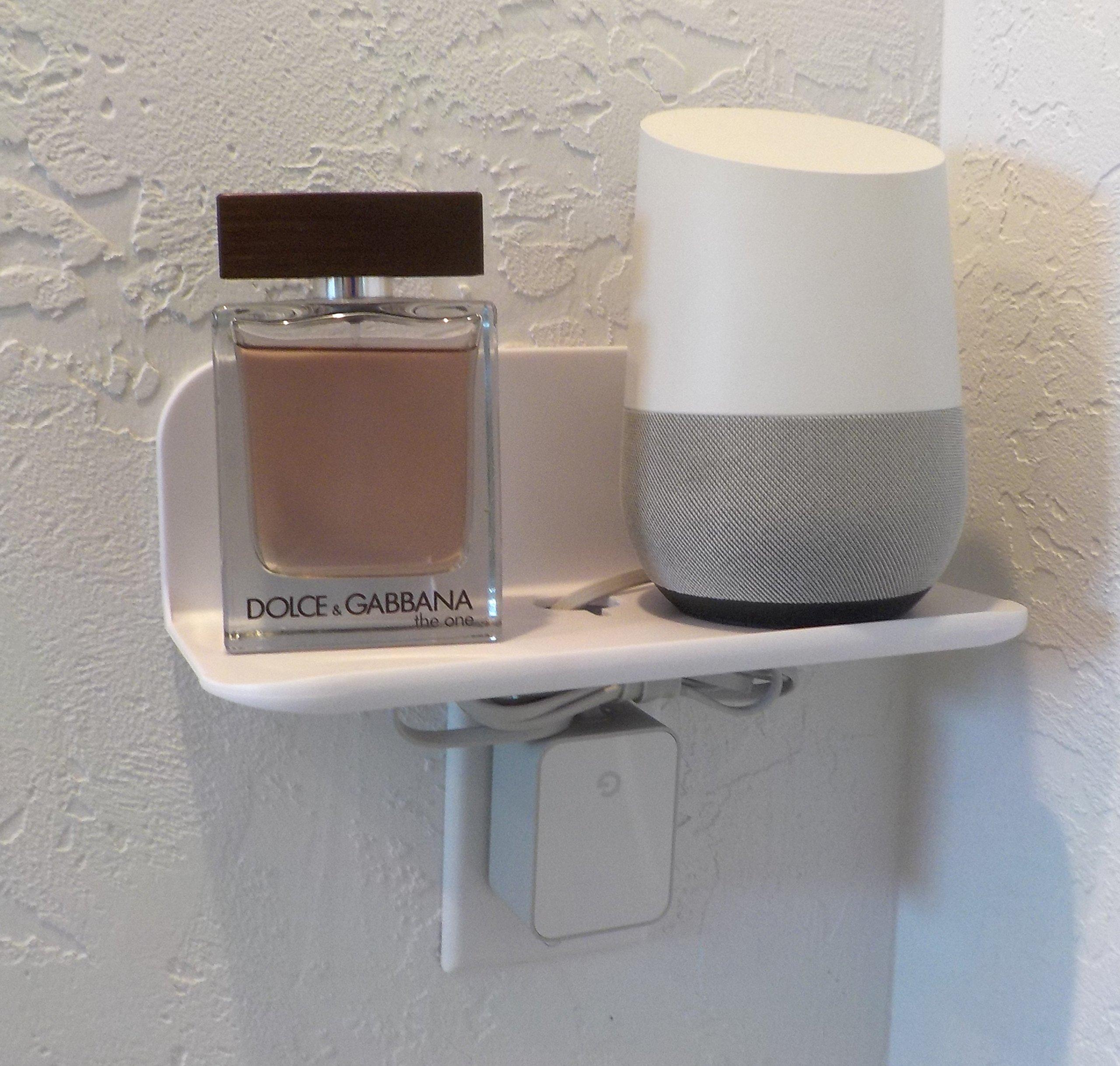 eLhook White 9 Inch Small Bathroom Shelf
