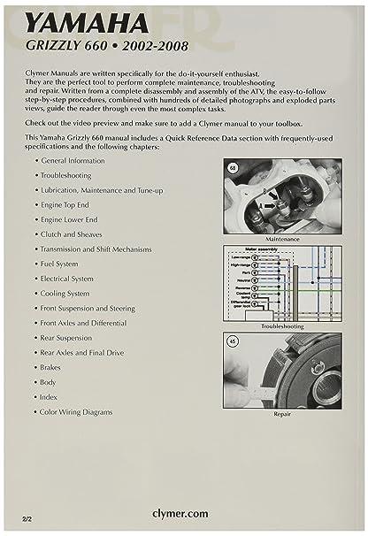 yamaha grizzly 660 yfm660 full service repair manual 2004 2008