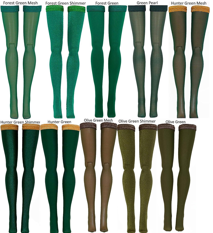 Hot Toys Obitsu Triad BJD Phicen Dark Green Doll Stockings for 1//6 Scale figures Momoko MSD Gildebrief Dollfie