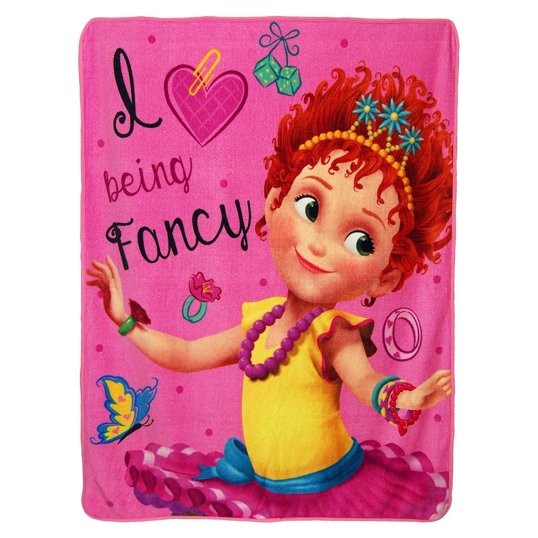 Tres Chic Micro Raschel Throw Blanket Multi Color Disneys Fancy Nancy 46 x 60