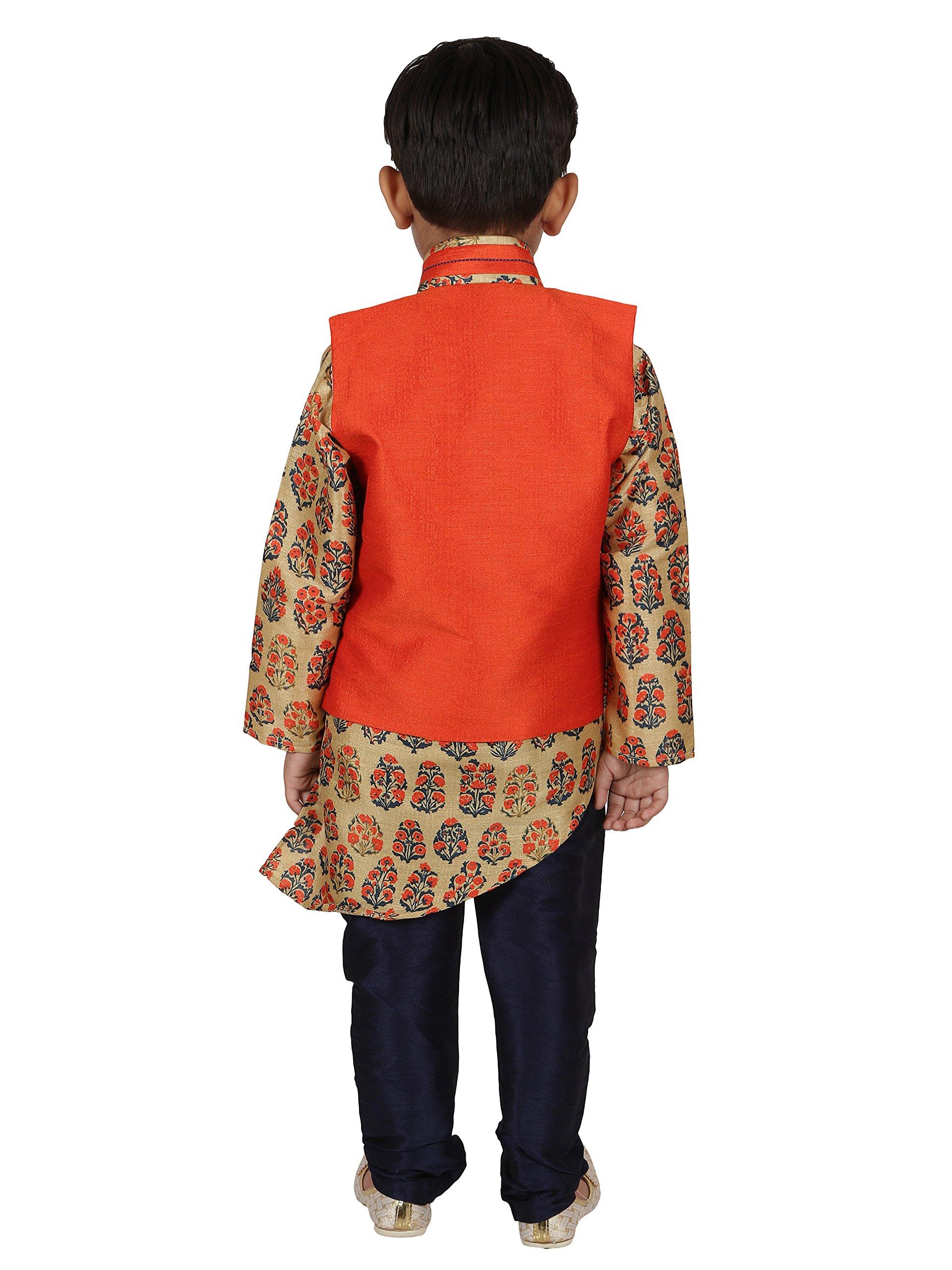 AJ Dezines Kids Indian Wear Bollywood Style Kurta Pyjama Waistcoat for Baby Boys by AJ Dezines (Image #3)