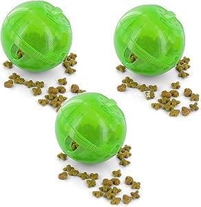 PetSafe SlimCat Green Meal Dispensing Cat Toy, (3 Pack)