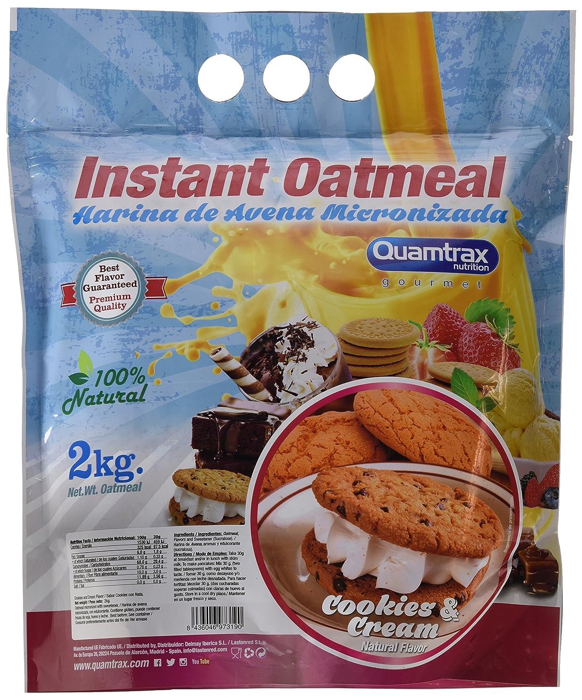 Quamtrax Nutrition Cookies & Cream Avena Instantánea - 2000 gr: Amazon.es: Salud y cuidado personal
