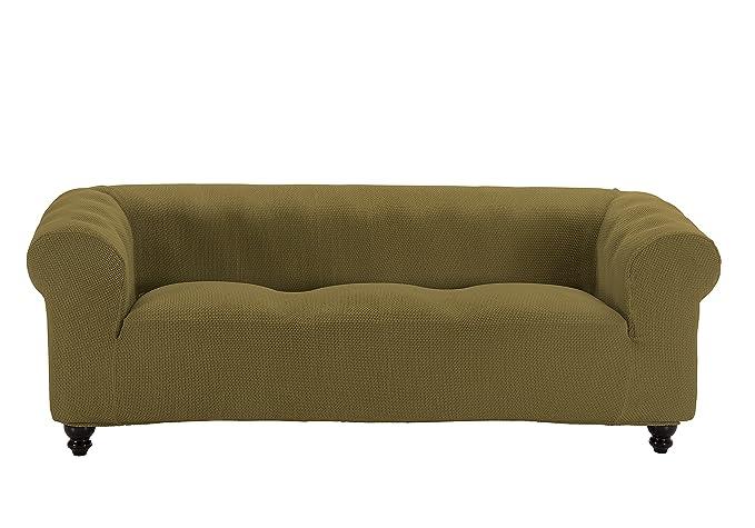Martina Home Funda Multiélastica para sofá Chester modelo Chipre , Tela, 3 Plazas - color Burdeos