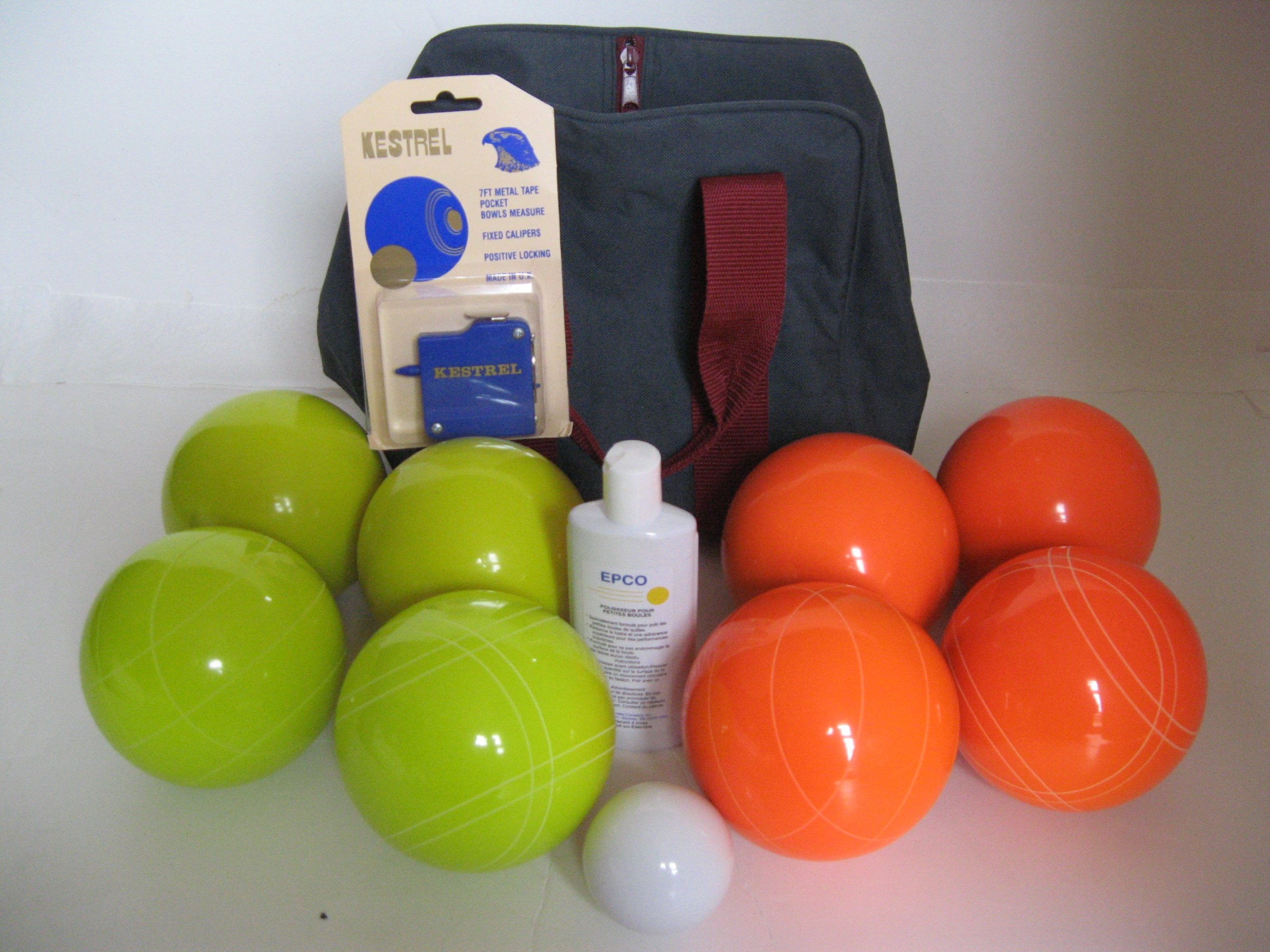 Premium Quality Basic EPCO Bocce package - 110mm Yellow and Orange balls, quality nylon bag, ... by Epco