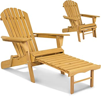 Outdoor Adirondack Foldable Wood Chair