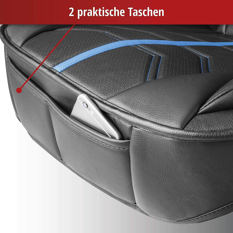 Sitzschoner f/ür Pkw und LKW in Rennsportoptik Walser 13985 Autositzauflage Kimi grau Universelle Sitzauflage und Schutzunterlage in schwarz
