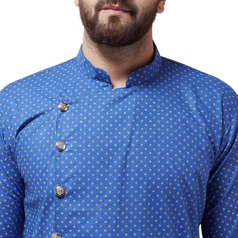 Bollywood-Indian-Kurta-Pajama-Dress-Tunic-Printed-Top-Men-Kurta-Ethnic-Wear thumbnail 10