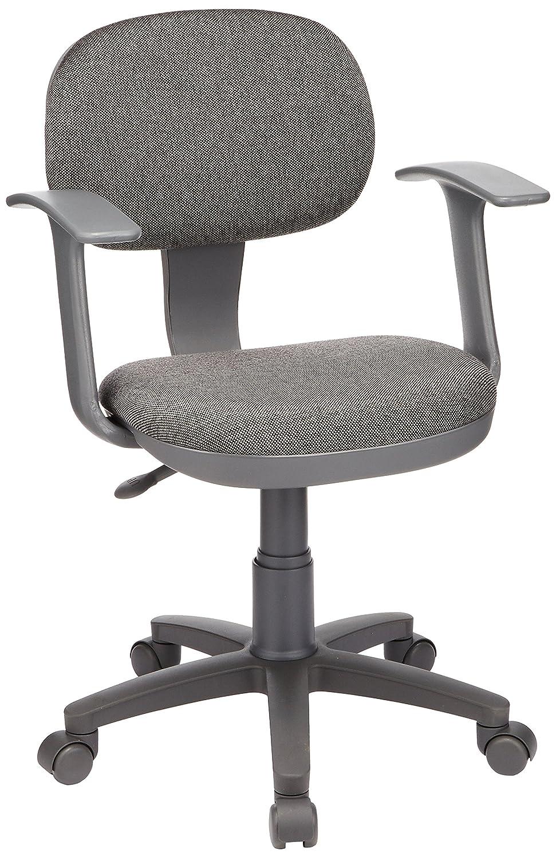 ナカバヤシ オフィスチェア デスクチェア 椅子 肘つき グレー CGN-102N B001DZ4F4S  グレー