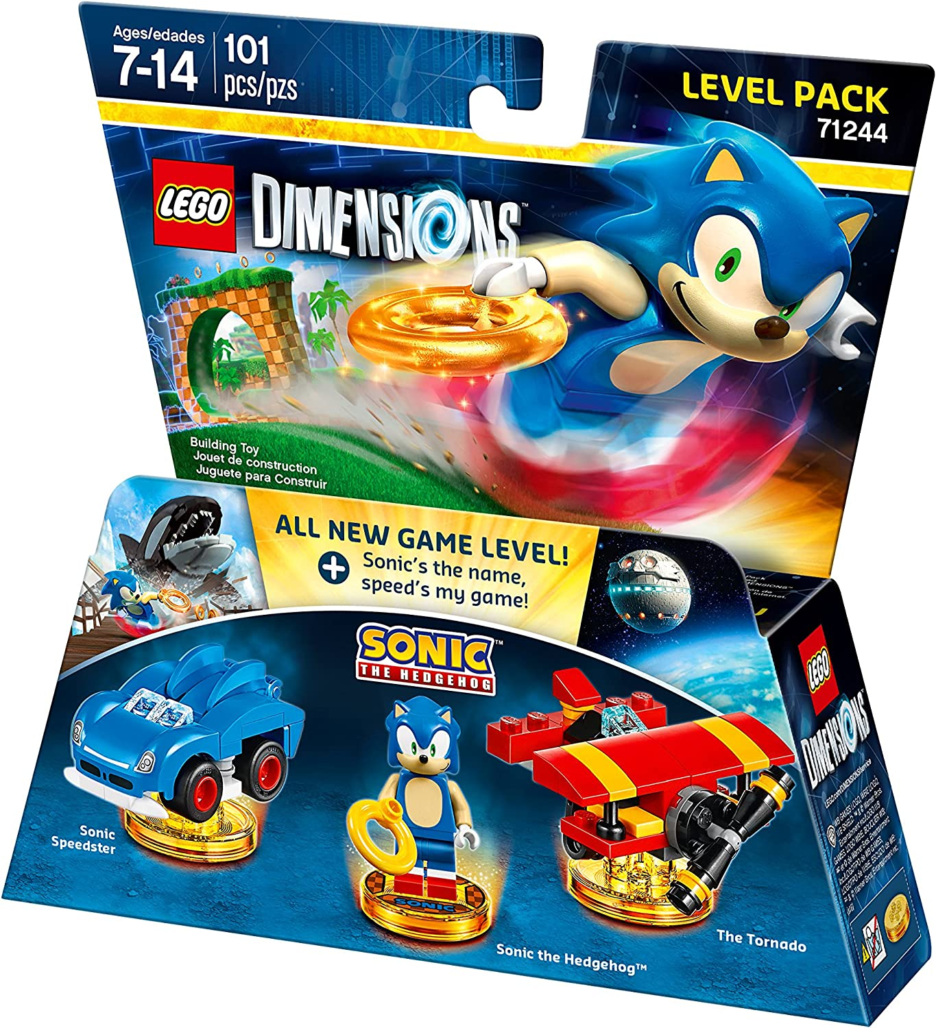 amazon com sonic the hedgehog level pack lego dimensions not