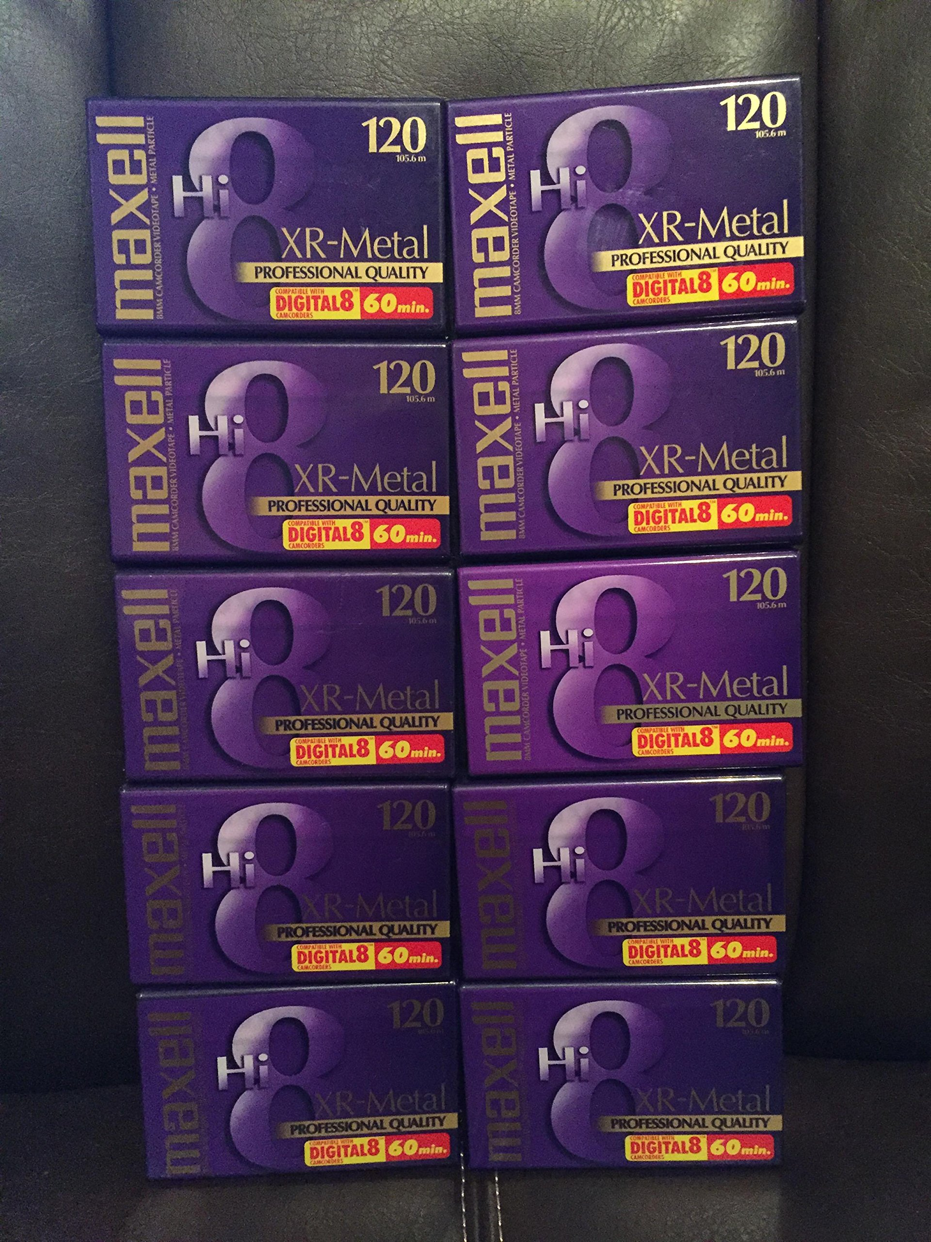 Maxell Hi-8 120 XR-Metal Professional Quality 60 Min. 8MM Camcorder Videotape 10 Pack by Maxell Corporation of America