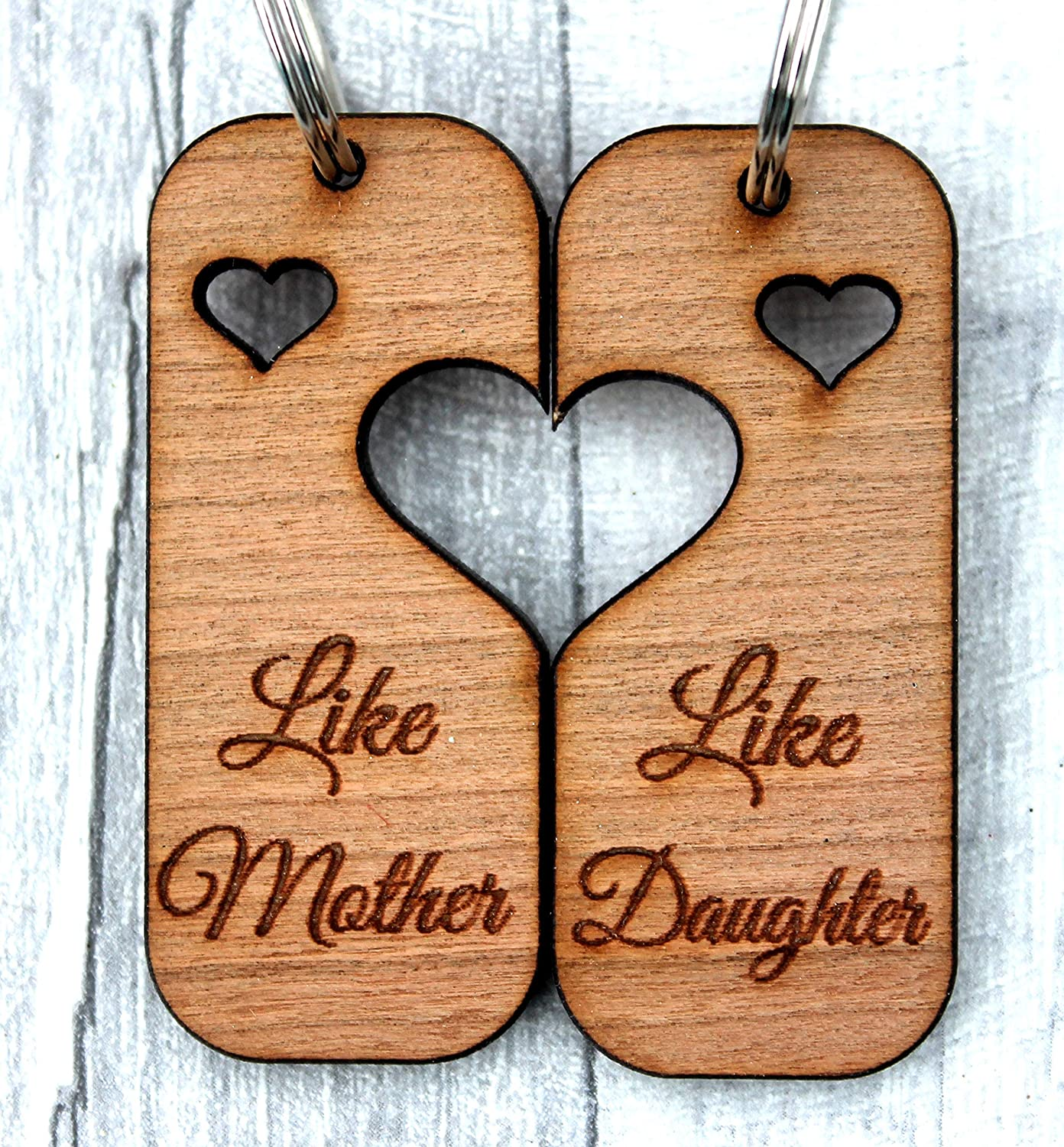 Mother/'s Day Keyring Gift for Mum from Daughter Like Mother Like Daughter