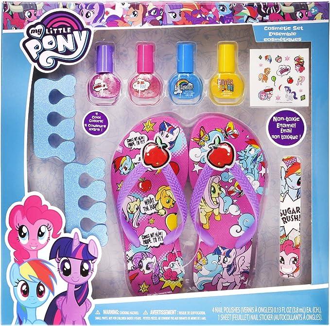 Amazon.com: townleygirl My Little Pony Set de spa, esmalte ...