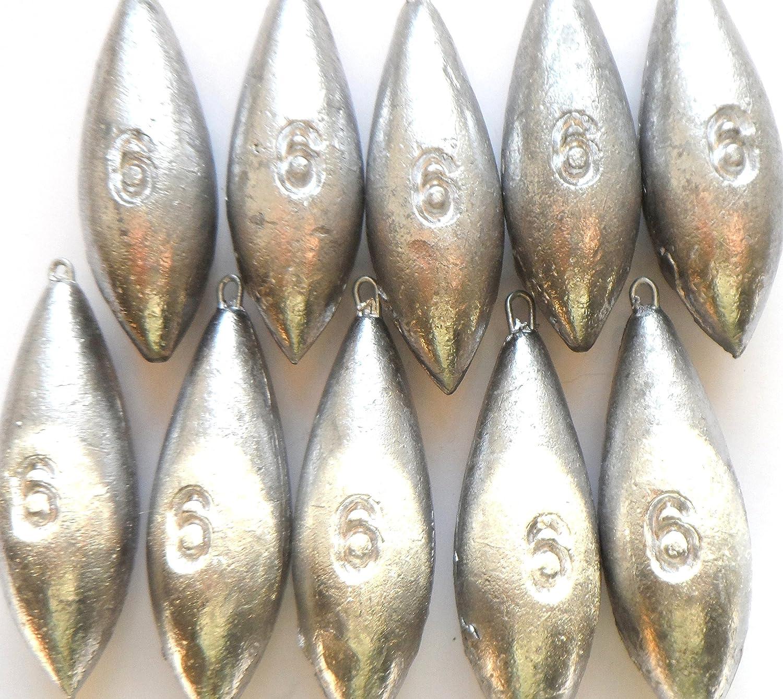 6oz AQUAPEDO SEA FISHING WEIGHTS 5 x 6oz PLAIN SEA FISHING TACKLE fishwithfinn