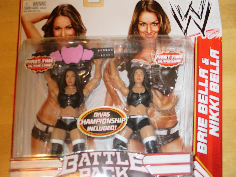 "1/"" Tall Action Figure Nikki Bella WWE TeenyMates Series 1 MINI FIGURES"