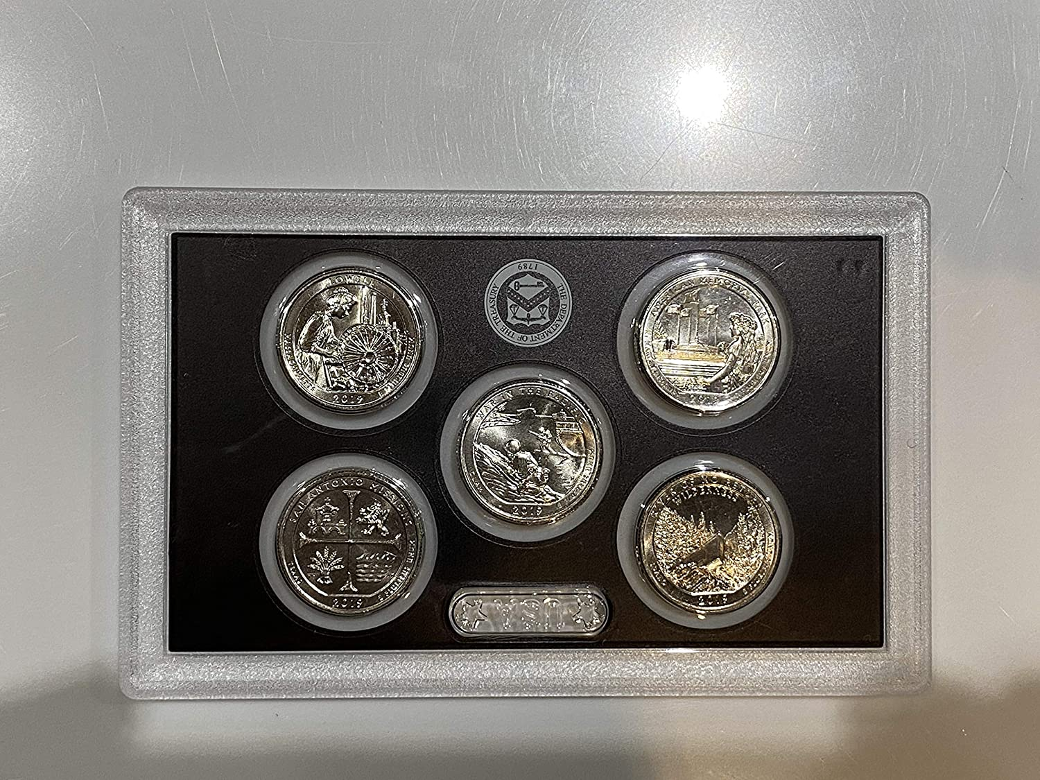 2019-W America the Beautiful West Point Mint Complete Set 5 Coins Uncirculated a