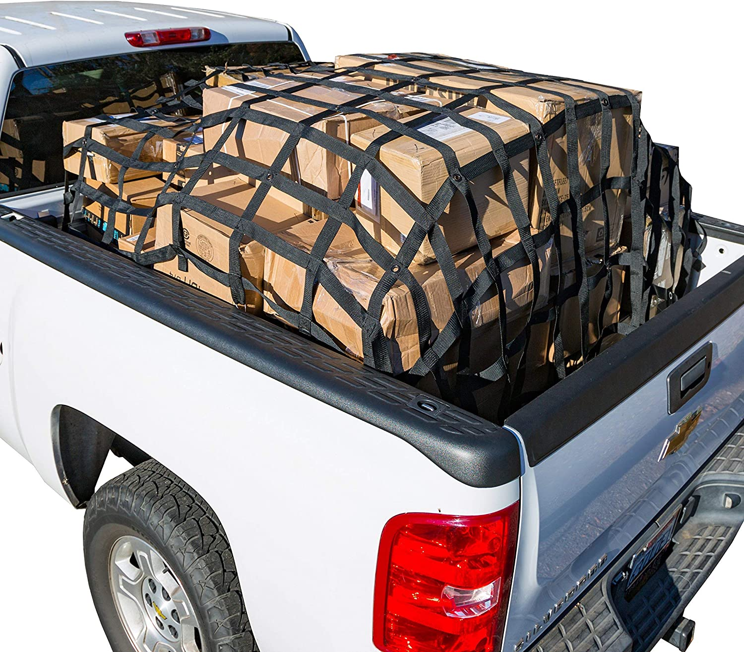 Amazon Com Rakapak Rugged Truck Bed Cargo Net With Additional