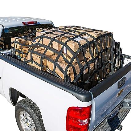 Truck Bed Cargo Net >> Rakapak Rugged Truck Bed Cargo Net With Additional Elastic Net Included 8 Feet X 6 75 Feet