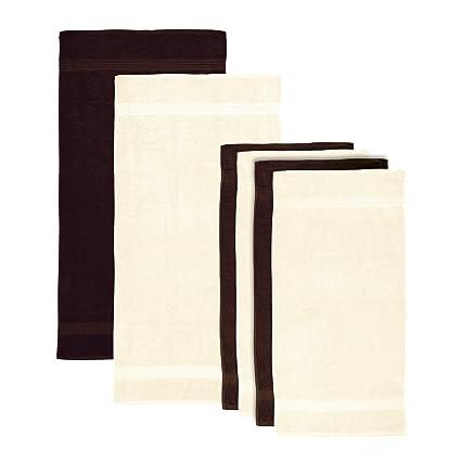 Lumaland Premium Set 4 Toallas 50 x 100 cm + 2 Toallas de baño 70 x
