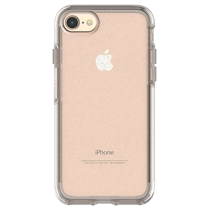 the latest 6de51 7d994 OtterBox Symmetry Clear Series Case for iPhone 8 & iPhone 7 (NOT Plus) -  Frustration Free Packaging - Stardust (Silver Flake/Clear)