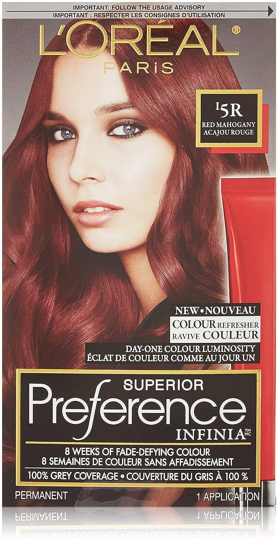 L'Oreal Paris Infinia Hair Color Red Mahogany 5R, 1 Count L' Oreal Paris