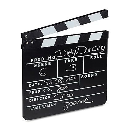 ciak cinematografico  Relaxdays 10021346 Ciak Cinema in Legno, Clapperboard da Regista ...