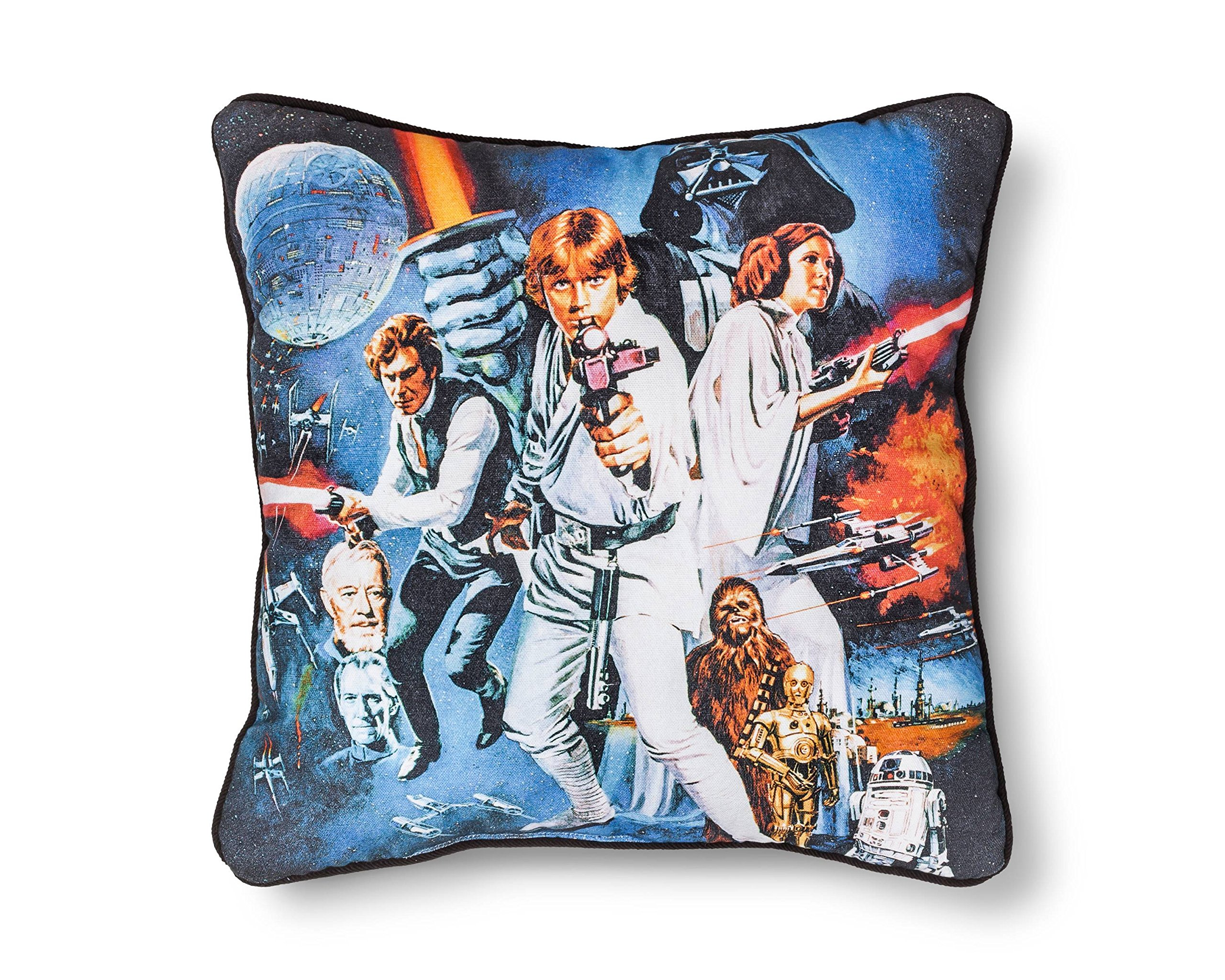 Star Wars Cast Blue Throw Pillow (15x15)