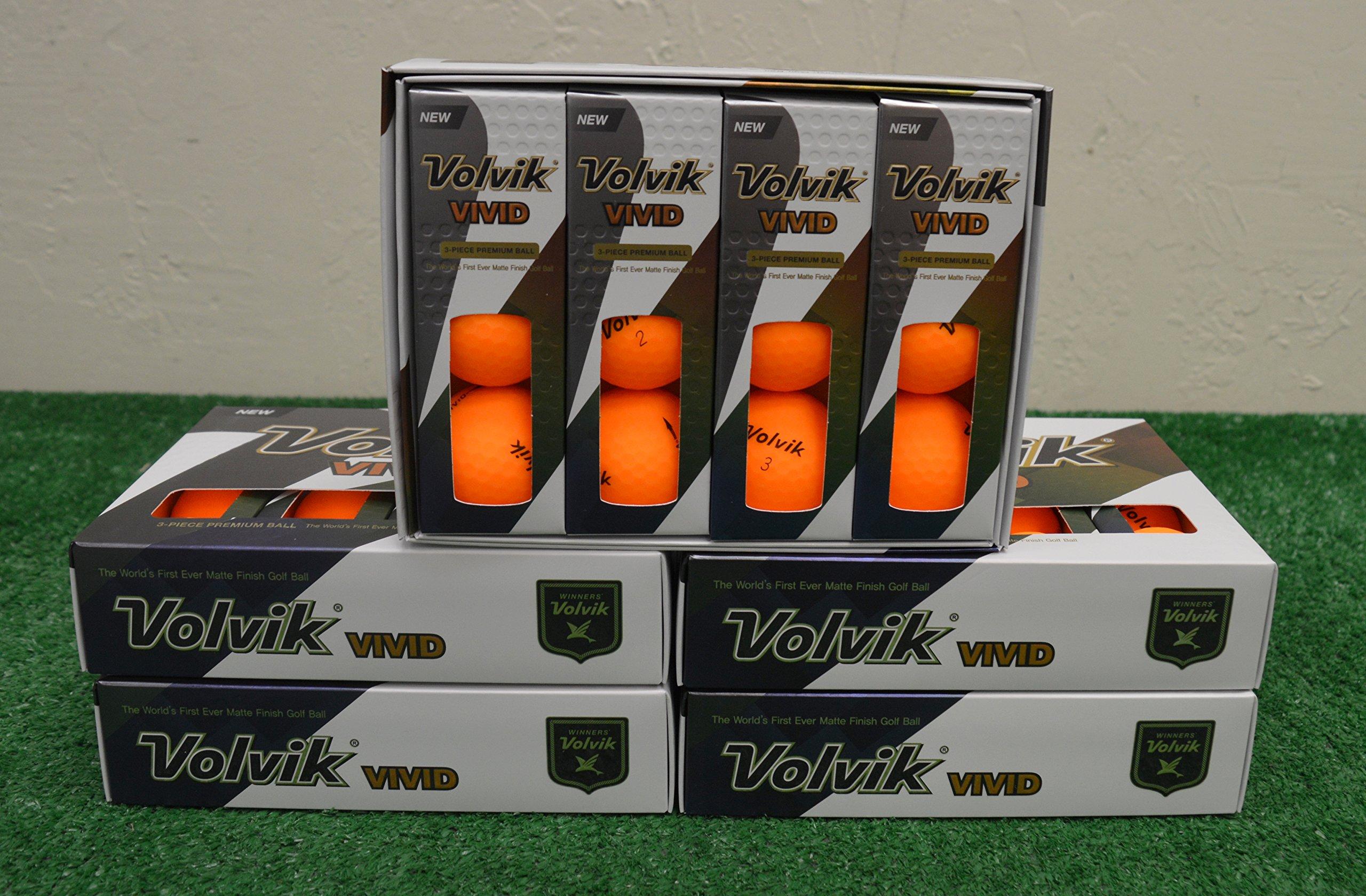 5 Dozen 2018 Volvik Vivid - Matte Sherbet Orange Golf Balls