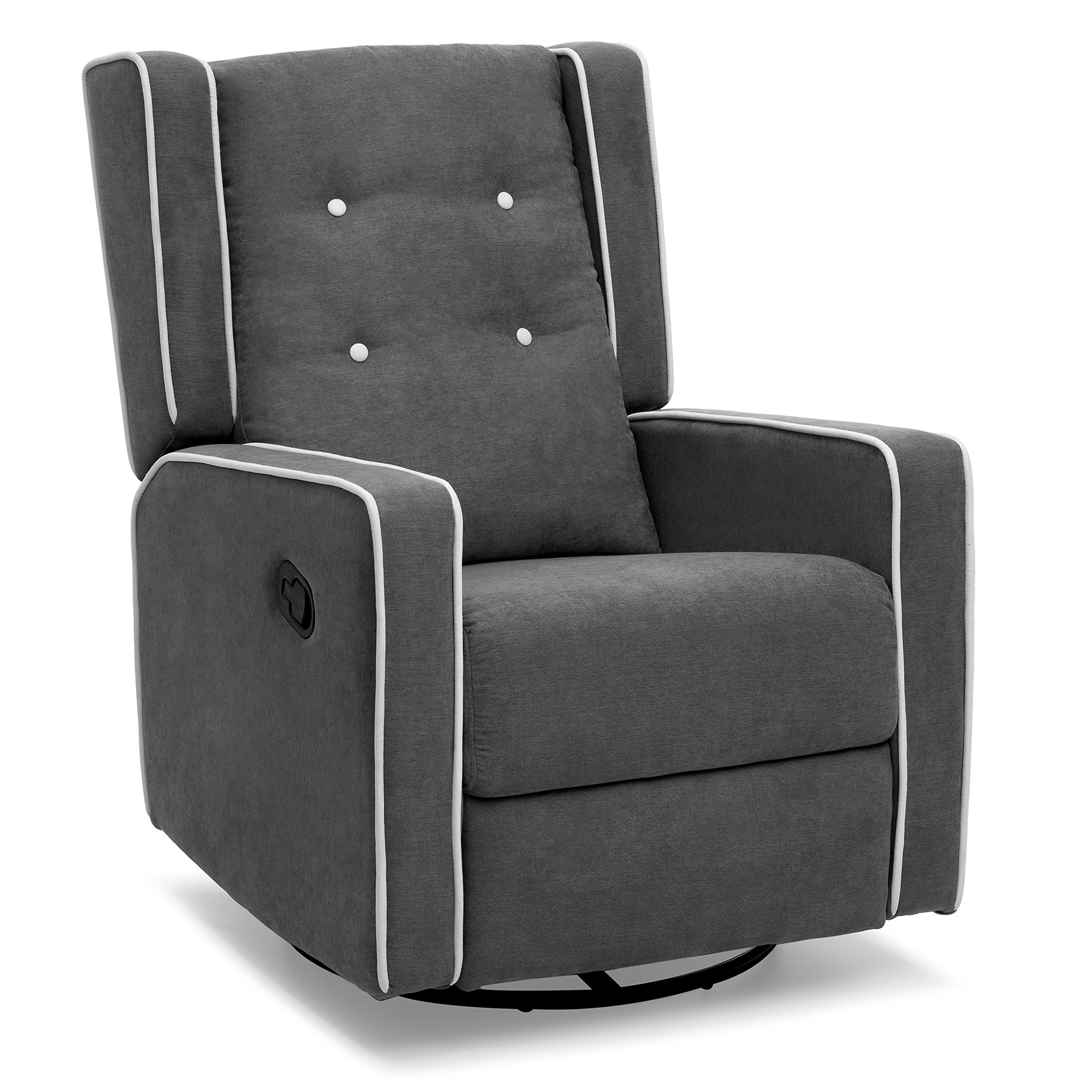 Best Choice Products Microfiber Tufted Upholstered Swivel Gliding Recliner (Gray)