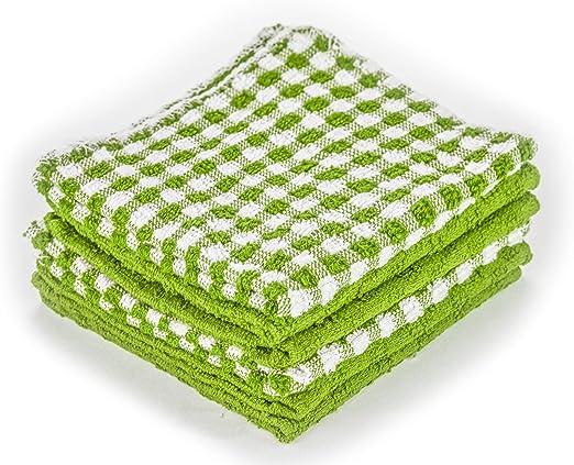DecorRack 6 paños de cocina 100% algodón, toallas pequeñas de 12 x ...