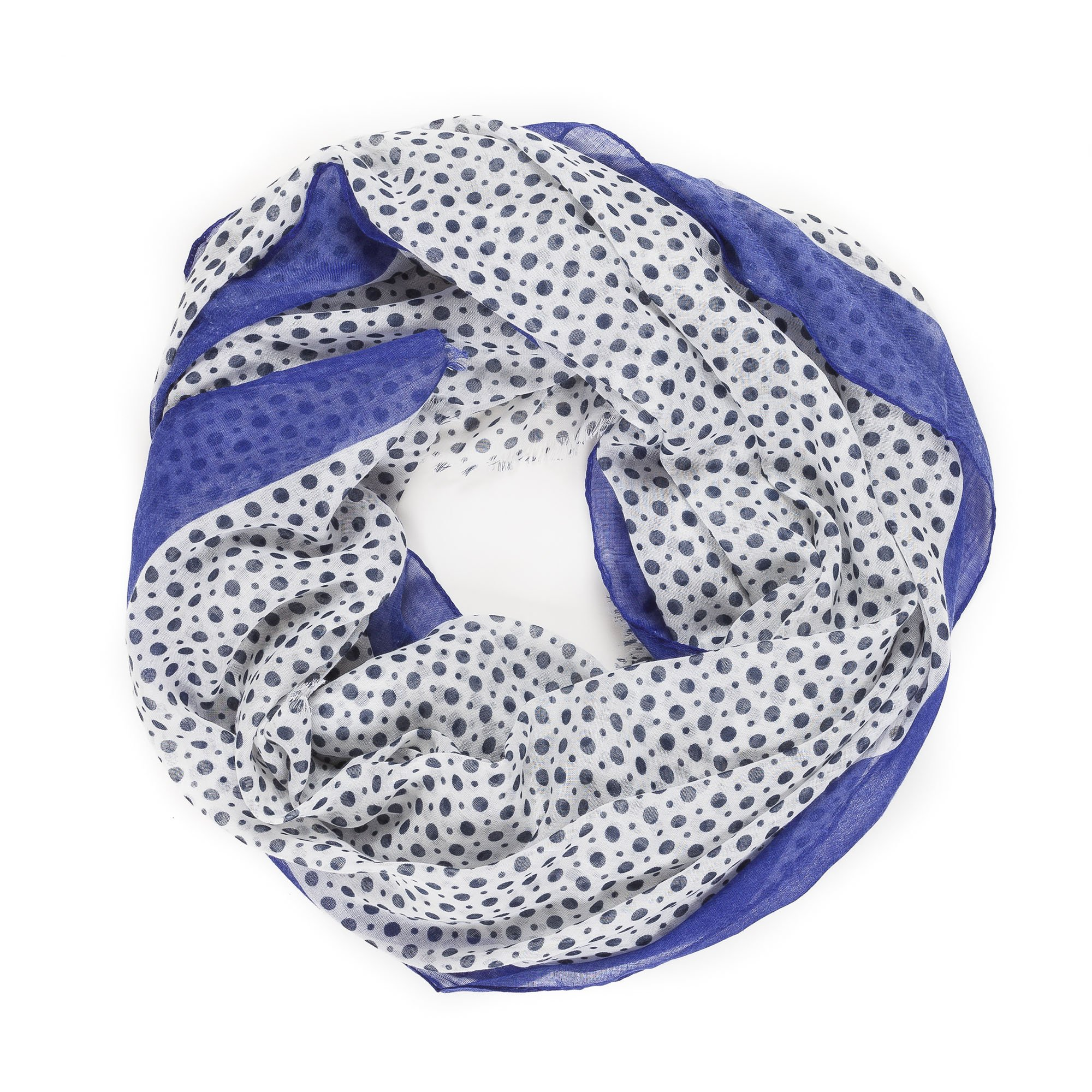 Scarves for Women by MIMOSITO Fashion Lightweight Elegant Geometric Patterned Wrap (Polka Dot-Blue) by MIMOSITO (Image #6)