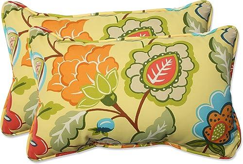 Pillow Perfect Outdoor/Indoor Timmo Sunshine Rectangular Throw Pillow Set of 2