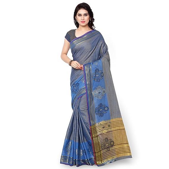 c0332d6f78e51 Fab Exclusive Silk Sarees-Royal Blue Plain Banarasi Kora Silk Saree-TD1029RB   Amazon.in  Clothing   Accessories