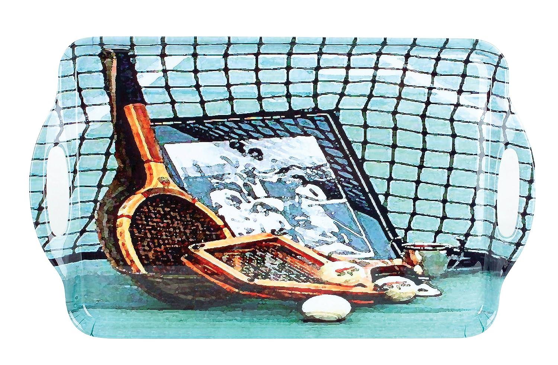 Blue//Brown Navika USA Vintage Tennis Serving Tray