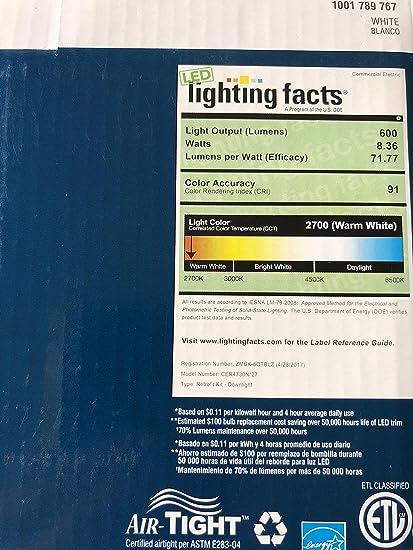 White Integrated LED Recessed Trim (2-Pack) - - Amazon.com