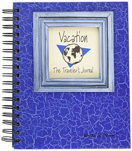 Traveler's Journal with prompts on every page for memories, places you stayed, special notes and memories