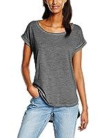 Urban Classics Damen T-Shirt Ladies Long Back Shaped Spray Dye Tee
