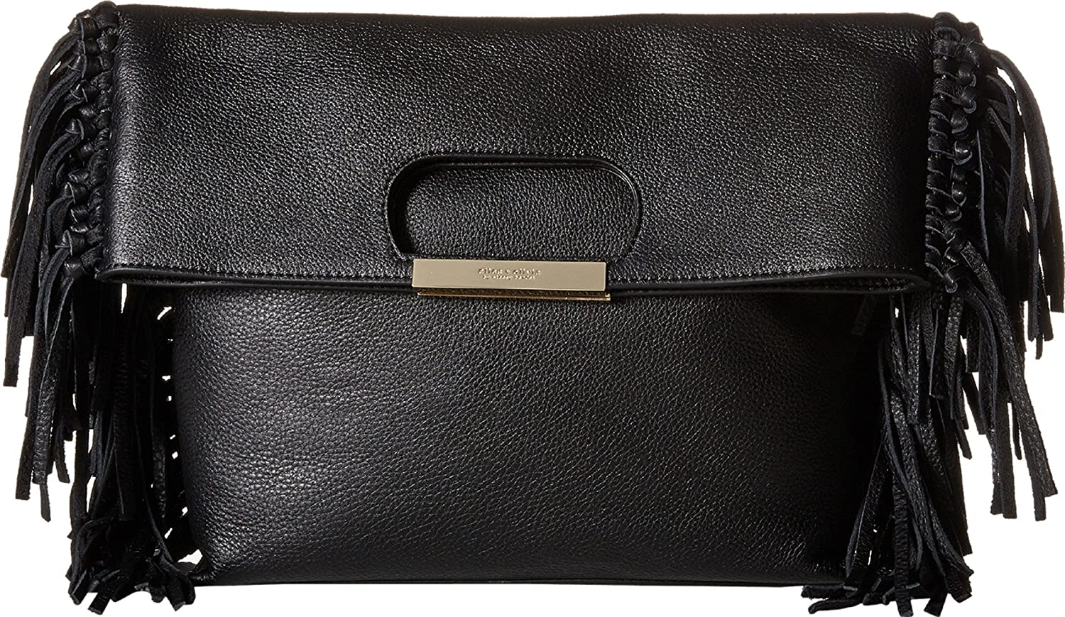 Alice + Olivia Women's Edie Pebbled Leather Fold-Over