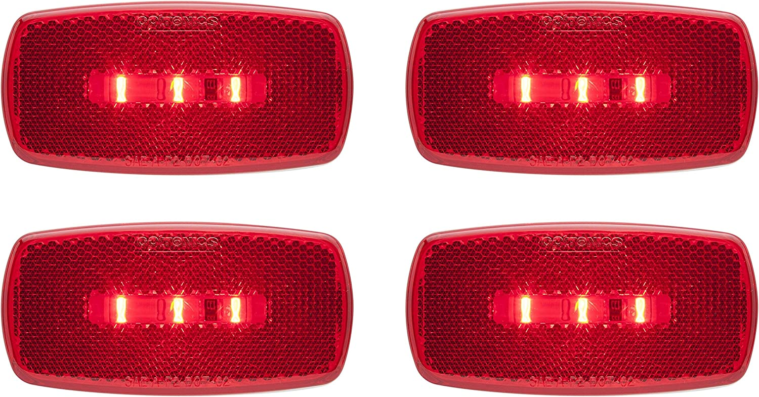 Optronics MCL32RS Surface Mount LED Marker Clearance Light with Reflex 4 White Seal