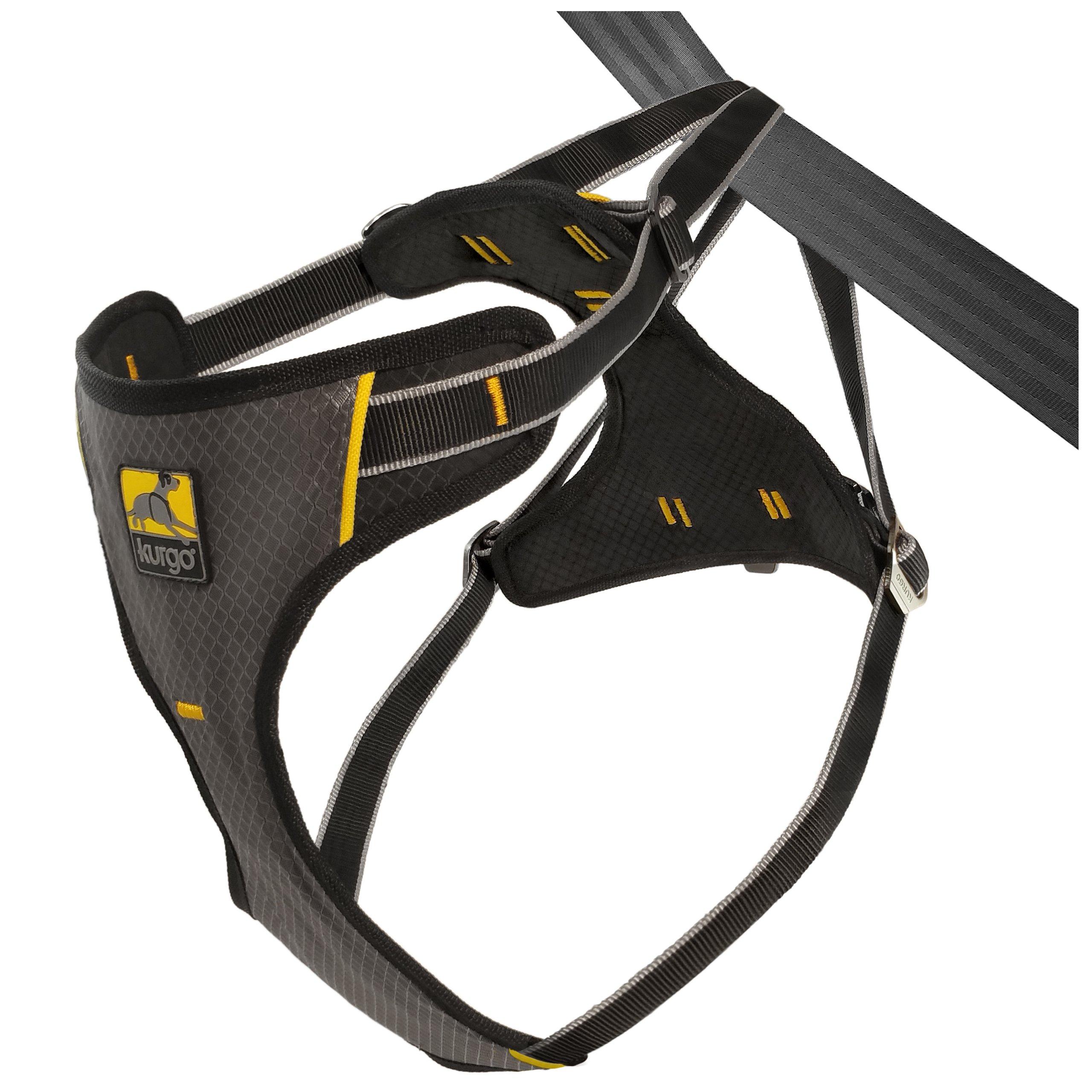 Kurgo Impact (TM) Dog Seat Belt Harness and Crash Tested Dog Harness up to 130 lbs, Black, Medium