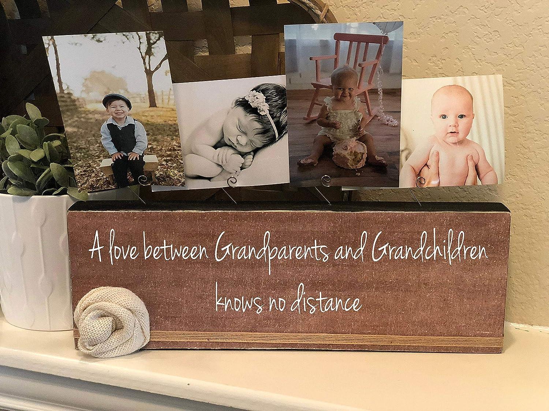 Personalized Grandparents Gift A Love Between Grandparents and Grandchildren Picture Frame Photo Block Gift for Grandma and Grandpa