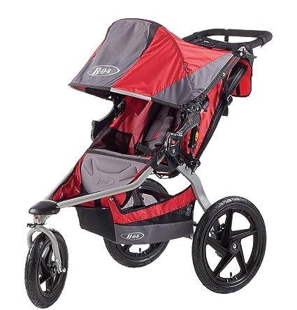 BOB Revolution SE - Cochecito todoterreno de 3 ruedas, color gris y rojo