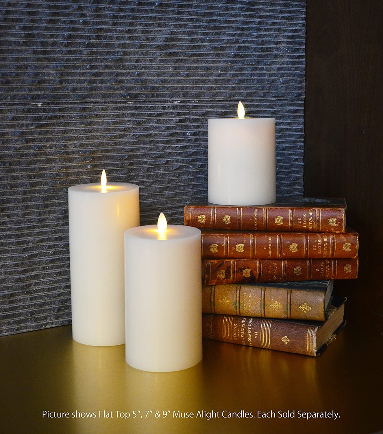 Vanilla Scented Vanilla Scented Remote Control Included Muse Alight 9 Blow On /& Off Classic Flameless Electronic Wax Pillar Candle By Battery Operated with Timer Feature Remote Control Included Ivory 3.5x9 Muse Alight Inc. MA-BC-003 3.5x9, Ivory