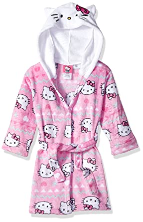 d9bcd5a0d4 Amazon.com  Hello Kitty Girls  Big Snowflake Hooded Robe