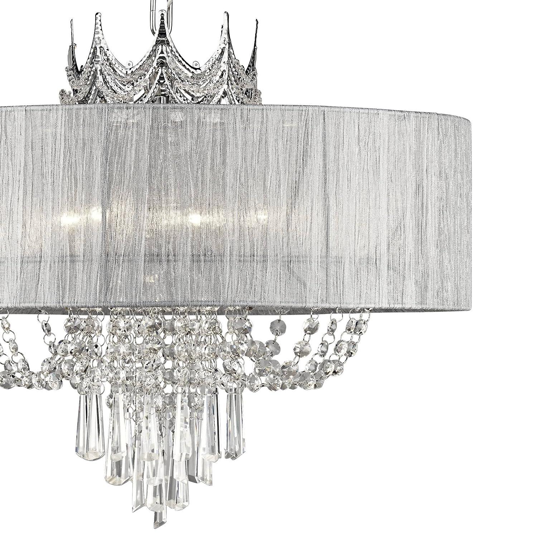 Hallie 21 Wide Draped Crown Crystal 6-Light Chandelier – Vienna Full Spectrum