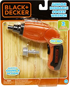 BLACK+DECKER Black & Decker Jr Jr. Bendable Socket Wrench Role Play Tools