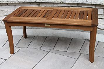 Amazon.com : Outdoor Interiors 390070 Eucalyptus Coffee Table : Patio  Coffee Tables : Patio, Lawn U0026 Garden