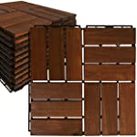 Mammoth Sustainably Sourced Solid Acacia Wood Oiled Finish Secure Interlocking Deck